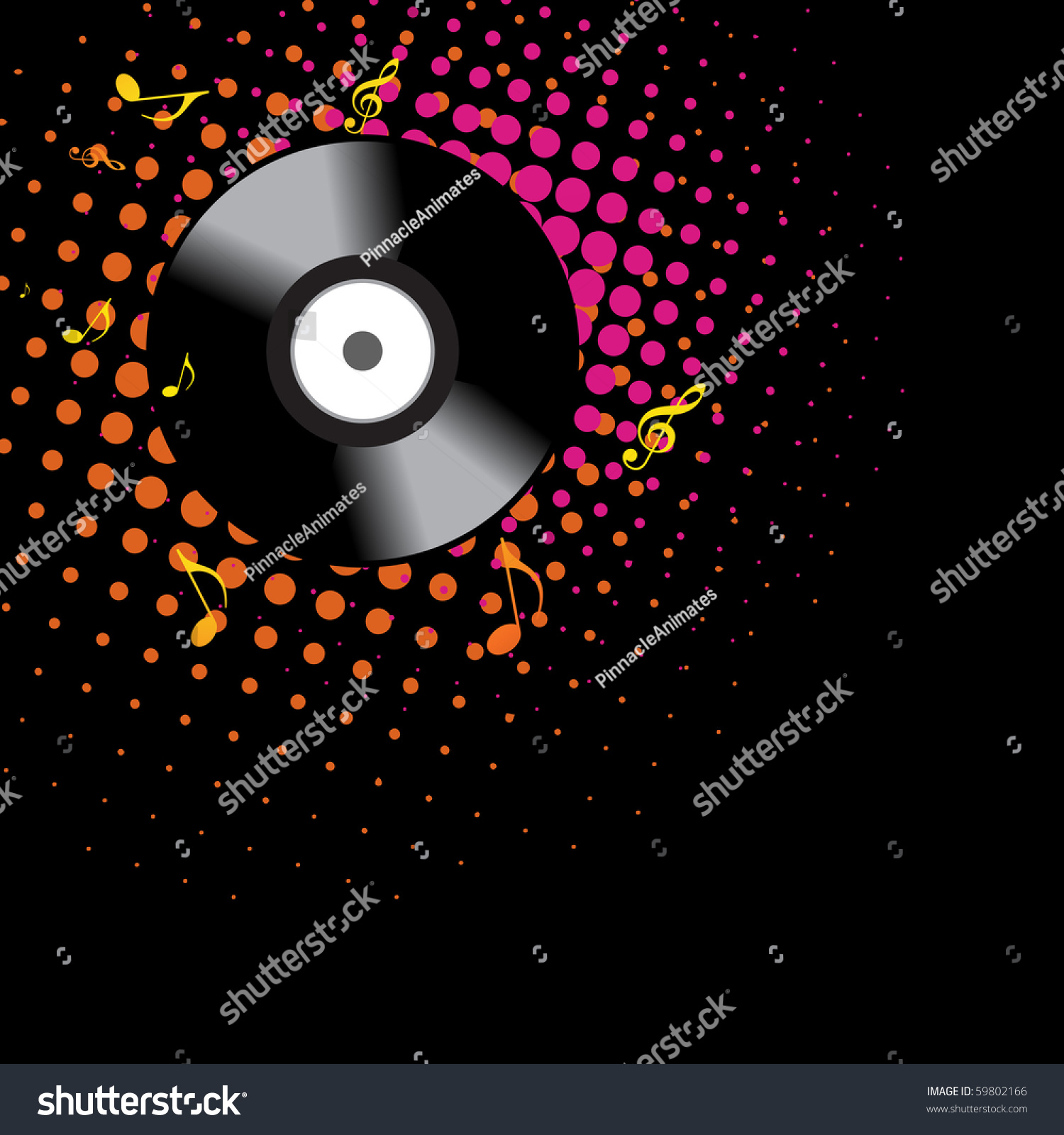 dark vinyl music background design stock vector