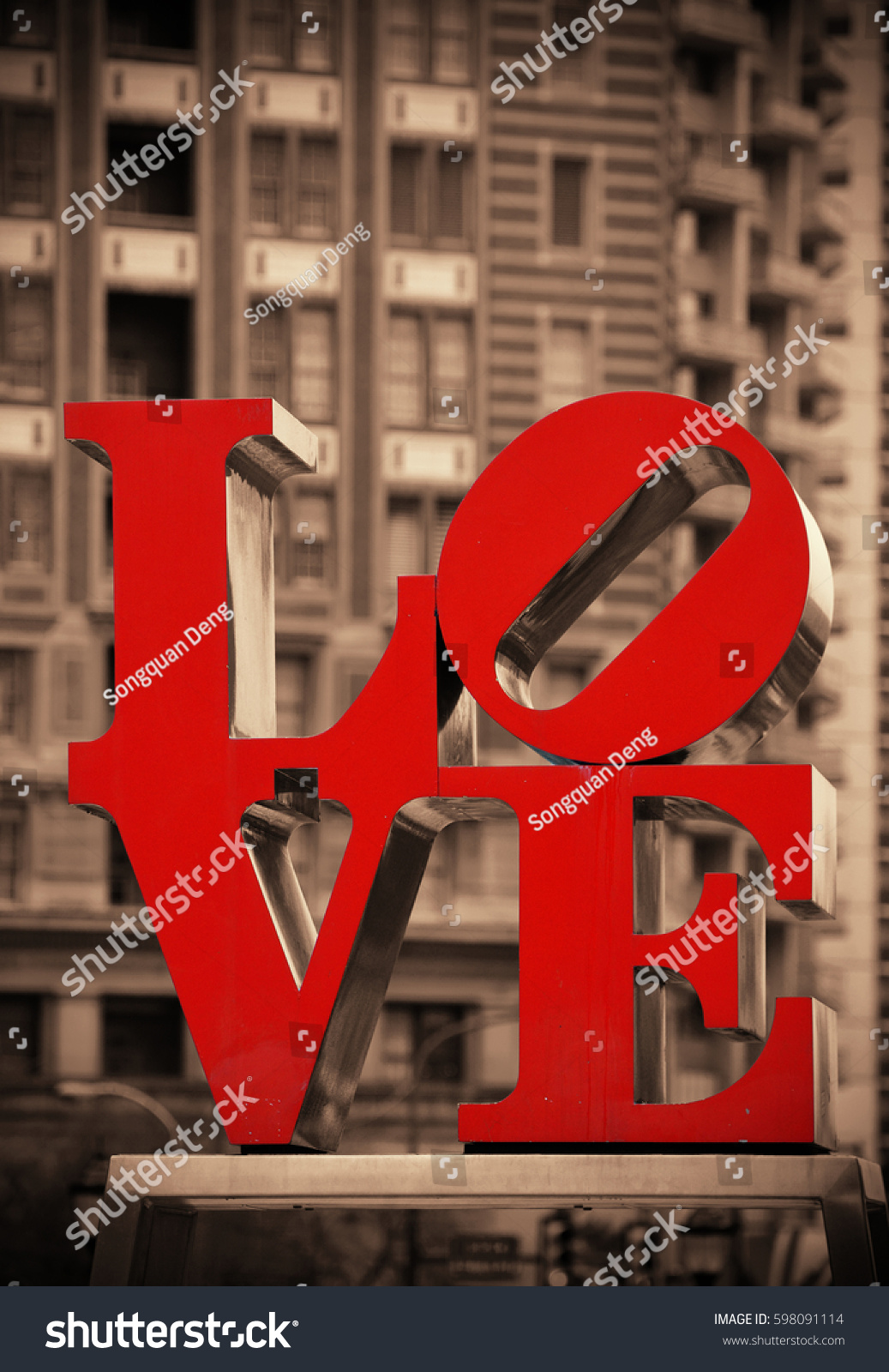 Philadelphia Pennsylvania Mar 26 Love Park Stock Photo Edit Now