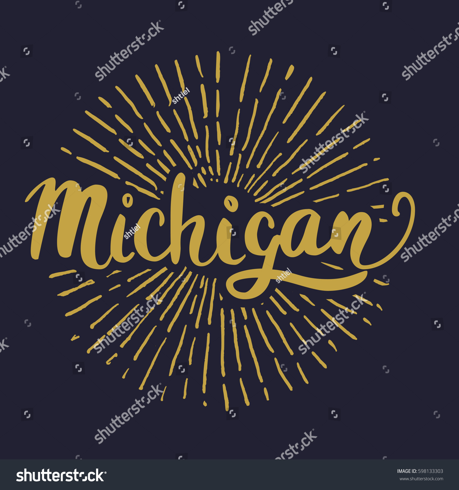 Custom hand lettering creative typography hand stock vector 2018 the custom hand lettering creative typography hand drawn greeting card with text michigan m4hsunfo