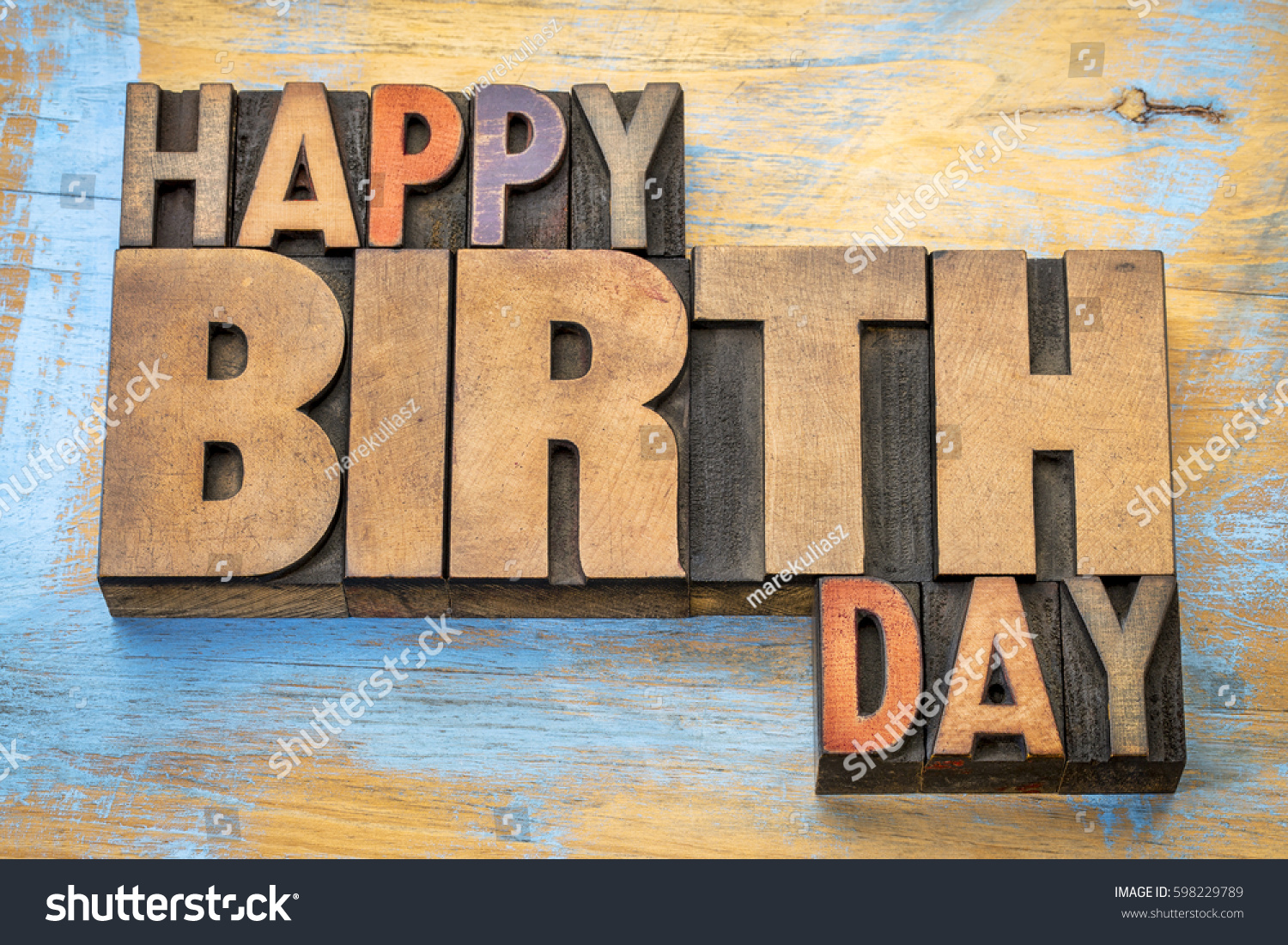 Happy Birthday Greeting Card Word Abstract Stock Photo 100 Legal