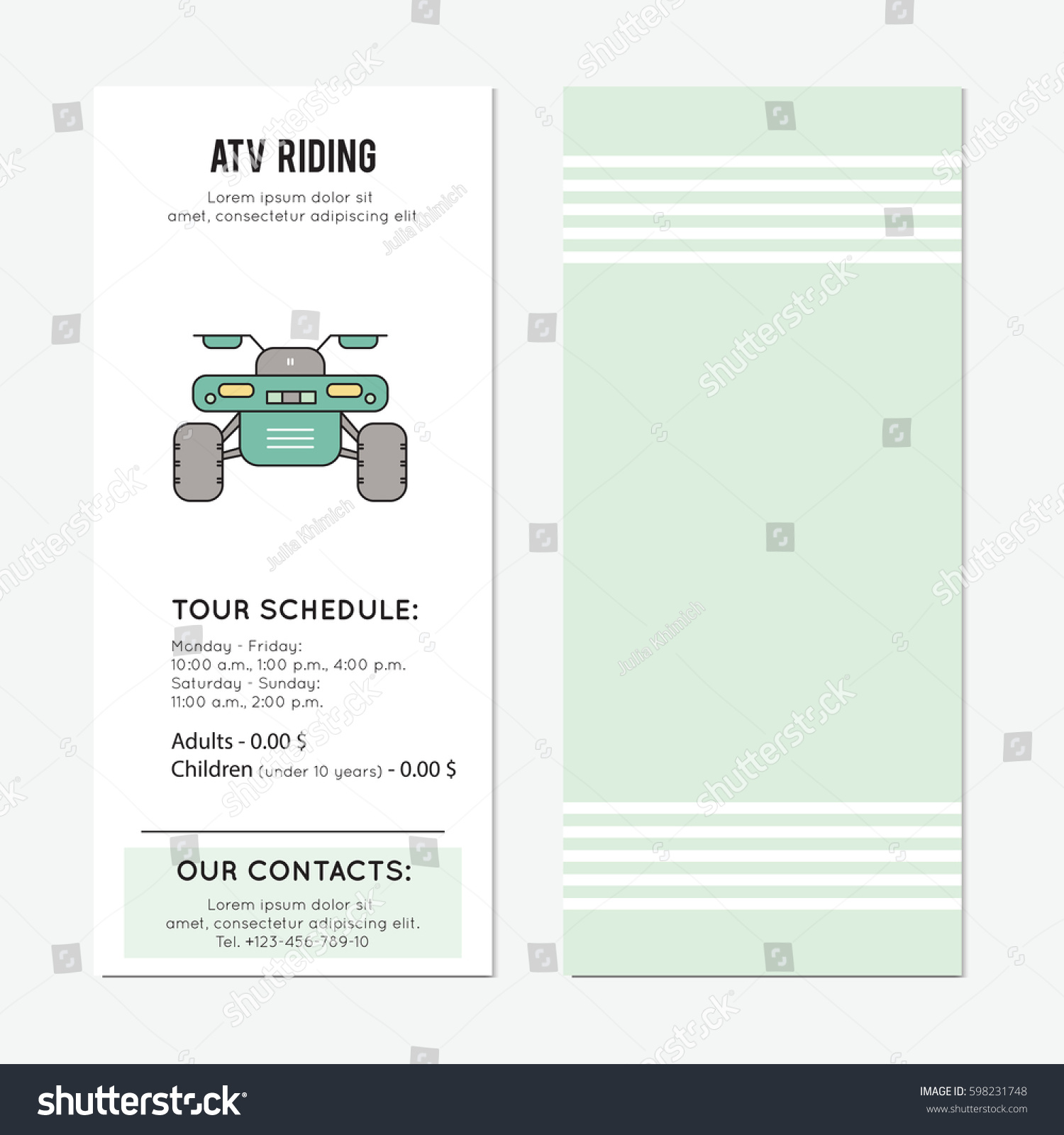 tour schedule template