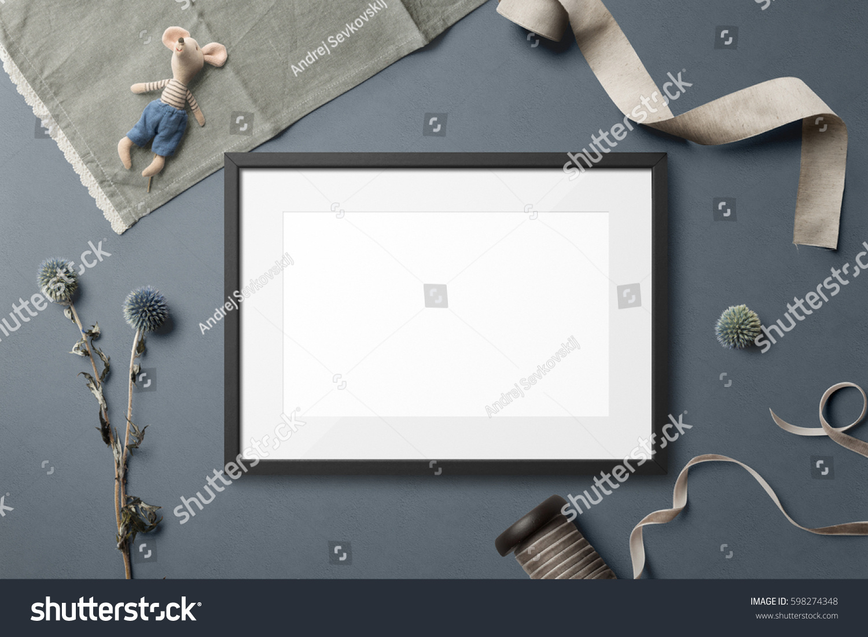 Poster Frame Mockup Landscape Size Top Stock Photo (Edit Now ...