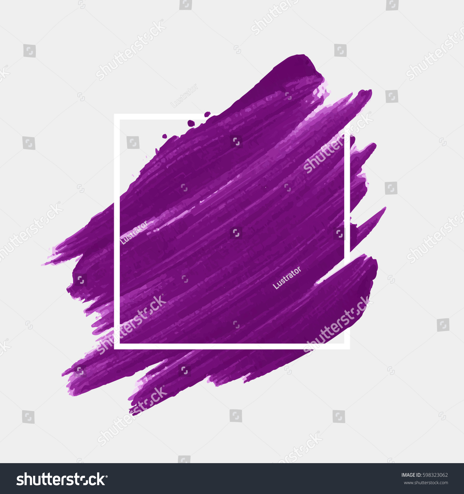Art Abstract Background Brush Paint Acrylic Stock Vector Royalty