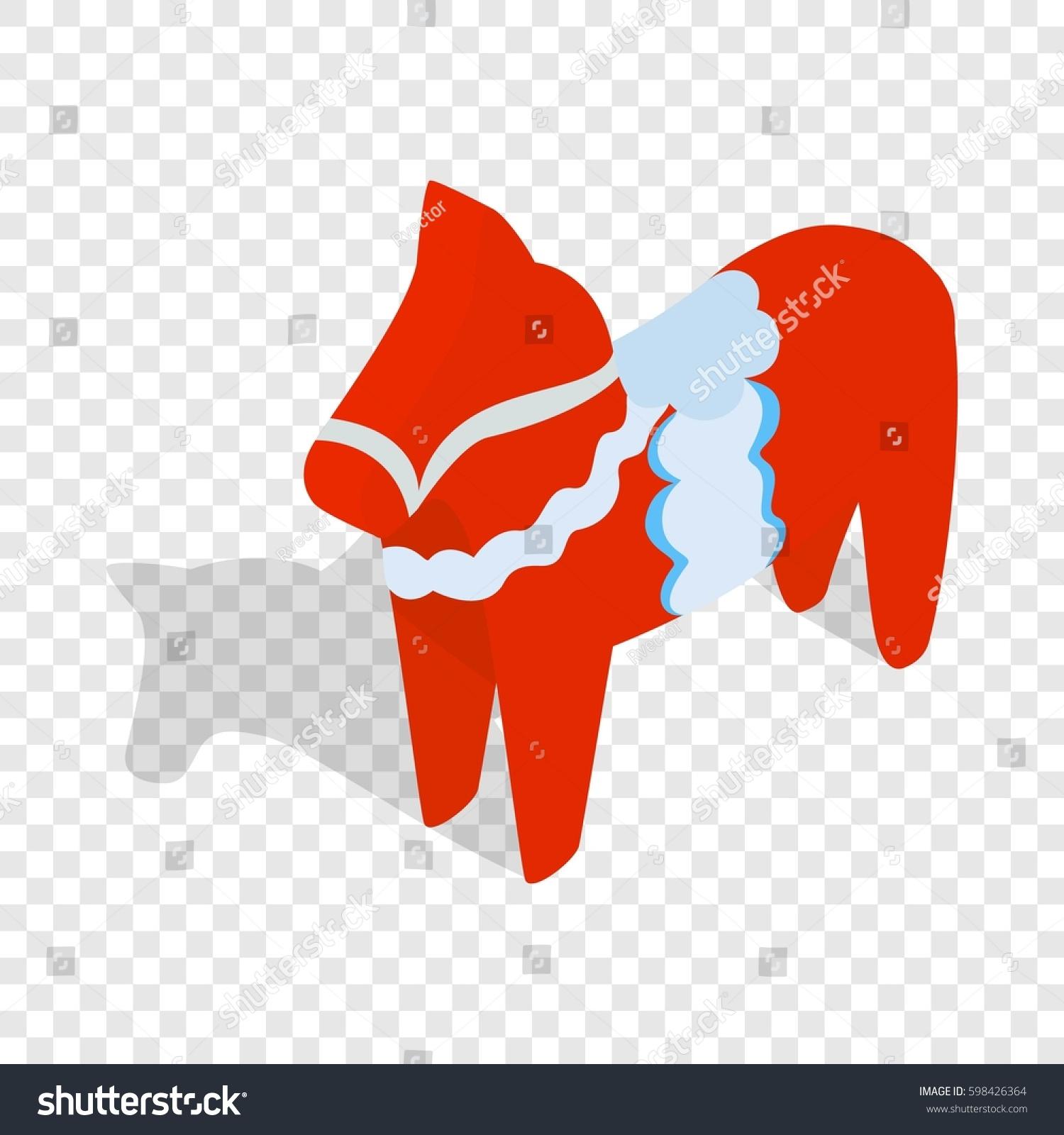 Red Wooden Horse National Symbol Sweden Stock Illustration 598426364