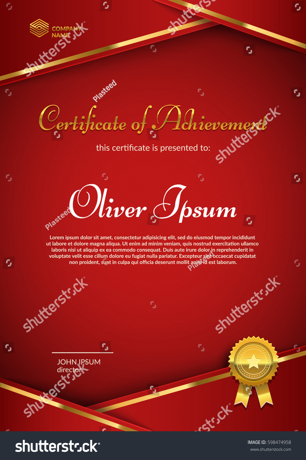 Certificate appreciation seal badge template red stock vector certificate of appreciation with seal badge template red and gold colors premium diploma design yadclub Image collections