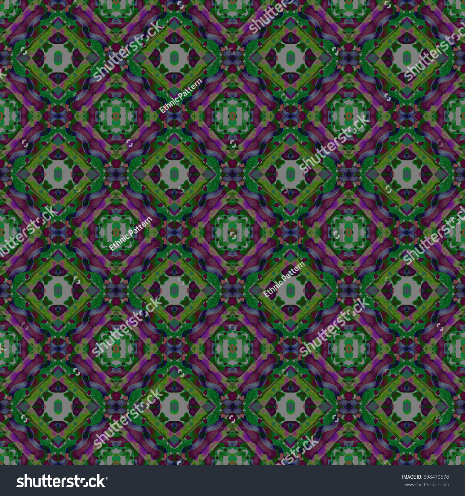 Abstract Geometric Seamless Pattern Handmade Ethnic And Tribal Motifs Bohemian
