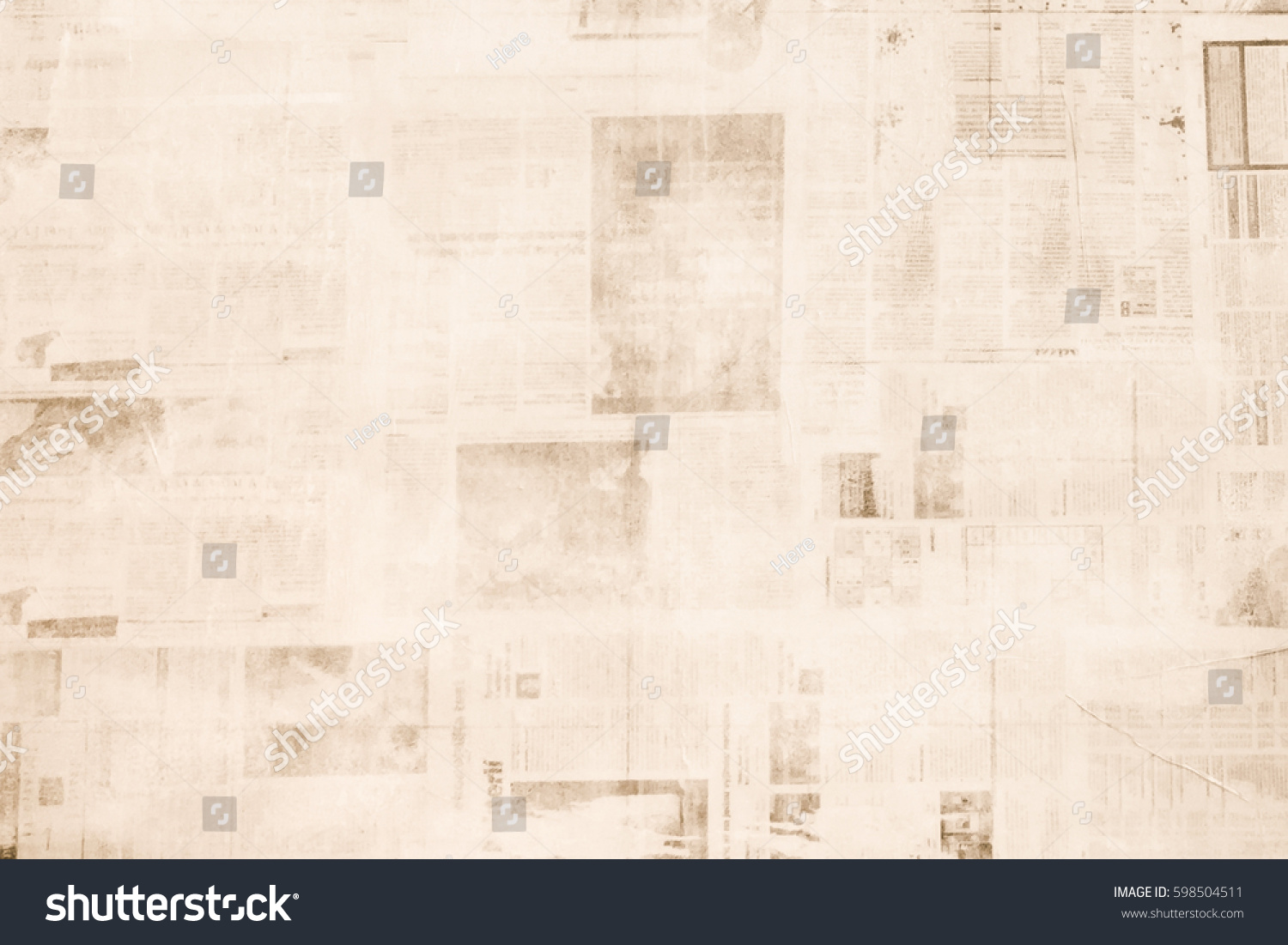 old newspaper background scratched paper design stock photo (edit