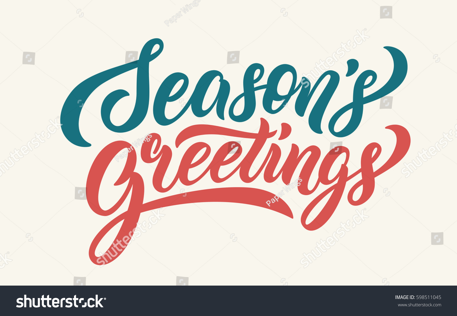 Seasons greetings lettering text banner vector stock vector seasons greetings lettering text banner vector illustration m4hsunfo