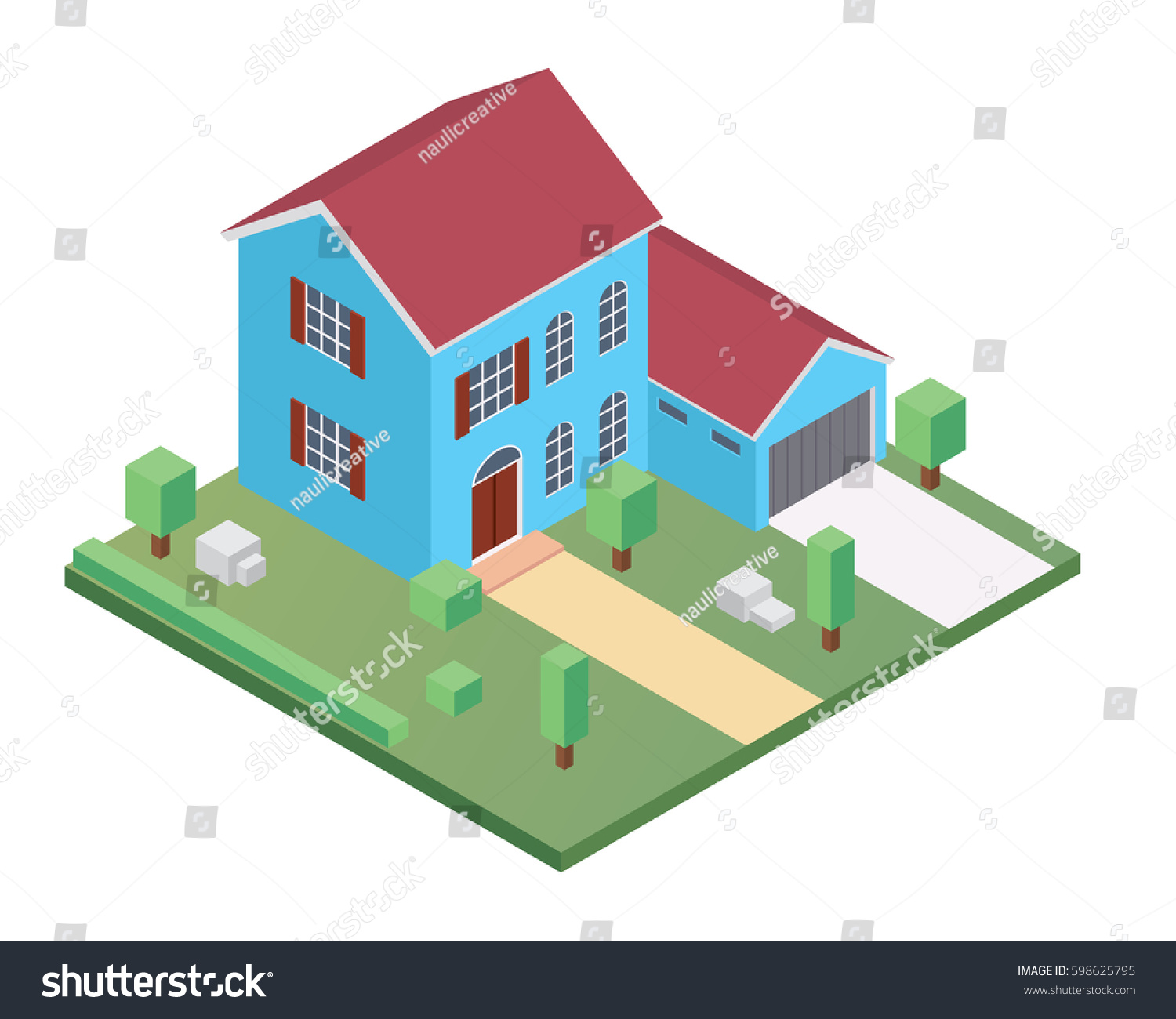 Modern Isometric House Illustration Suitable Diagrams Stock Vector ...