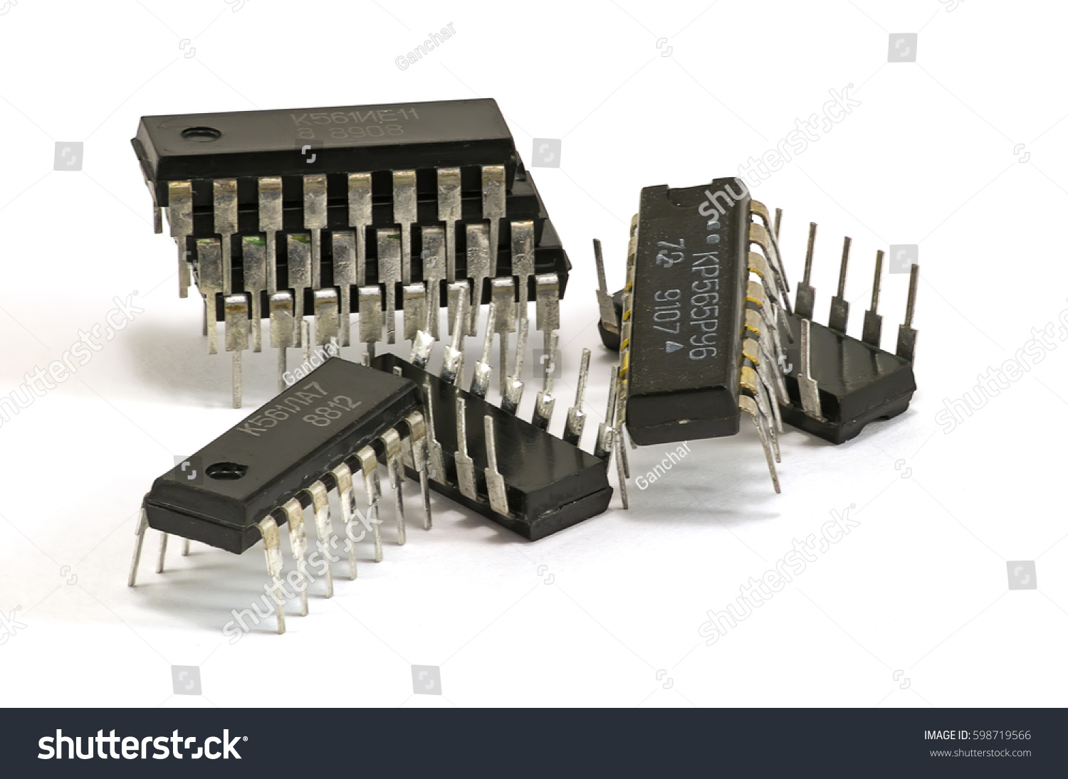 Chip Semiconductor Devices Stock Photo Edit Now 598719566 Circuitry Of An Electronic Calculator Royalty Free Photography For