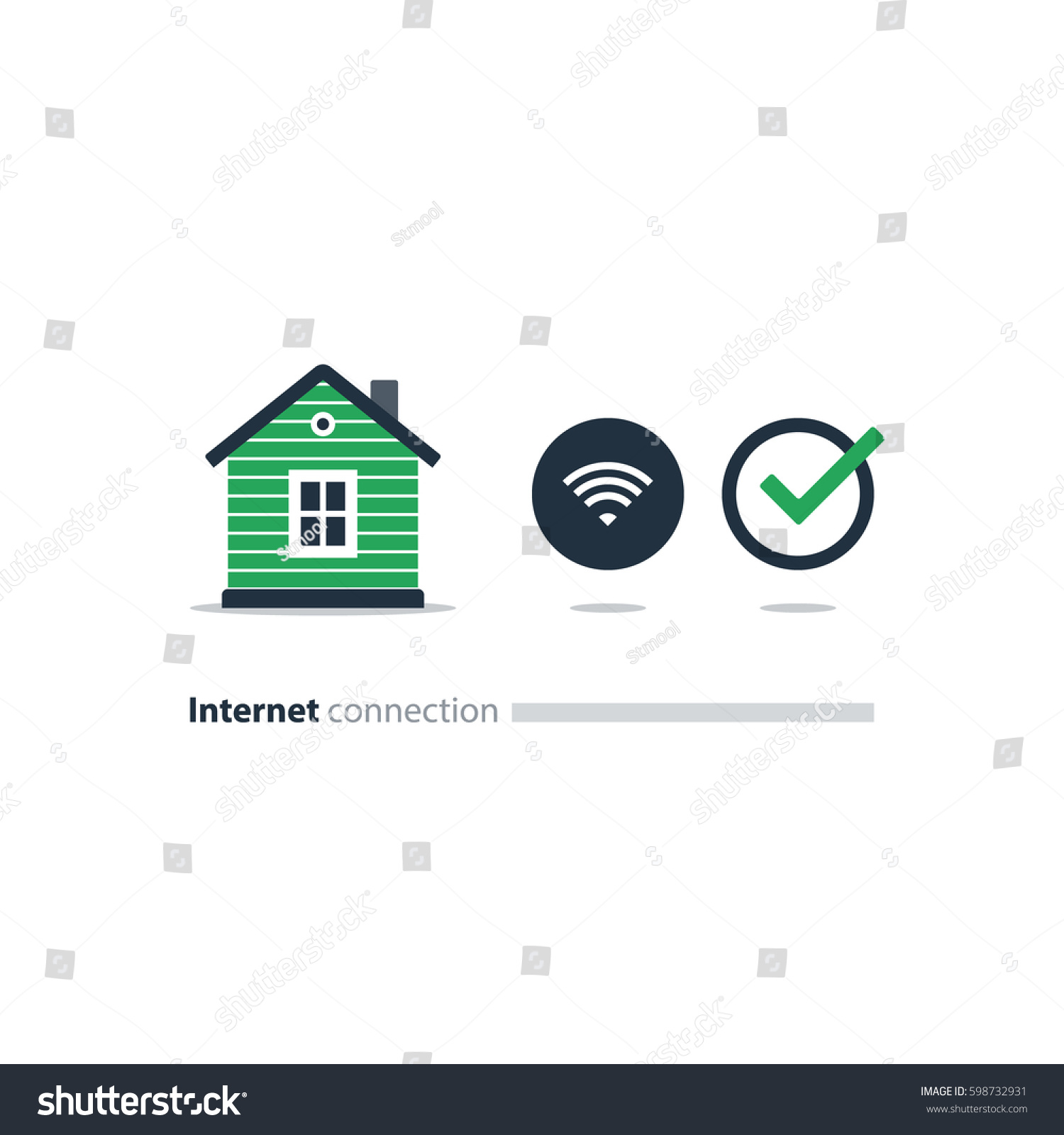 Home Wi Fi Connection Concept Wireless Internet Stock Photo (Photo ...