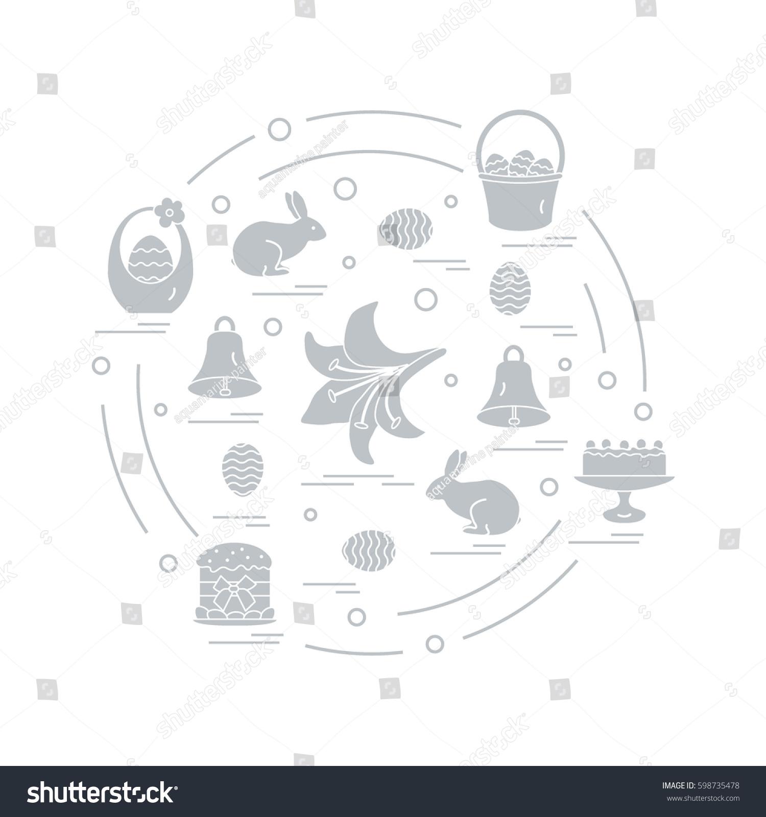 Cute vector illustration different symbols easter stock vector cute vector illustration with different symbols for easter arranged in a circle including icons of buycottarizona