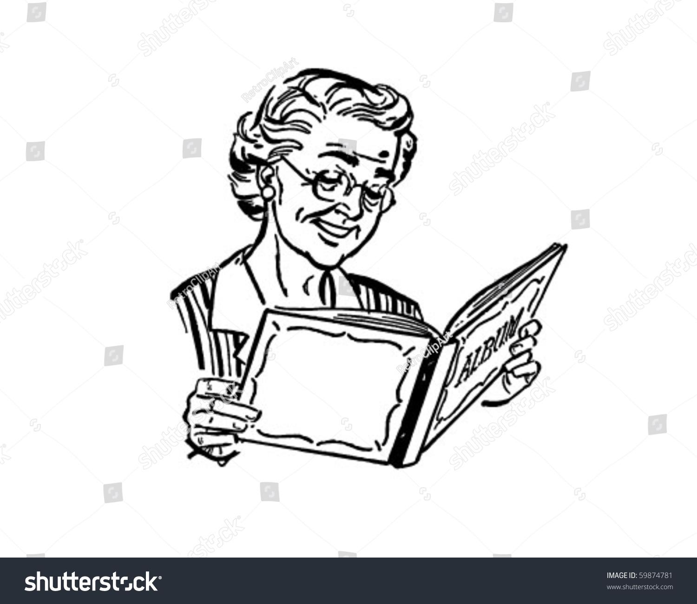 Grandma Photo Album Retro Clip Art Stock Vector 59874781 ...