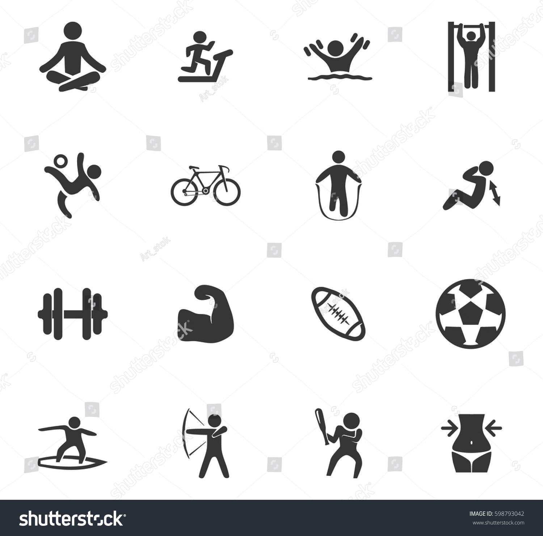 Sport icons set symbols web user stock vector 598793042 shutterstock sport icons set and symbols for web user interface biocorpaavc