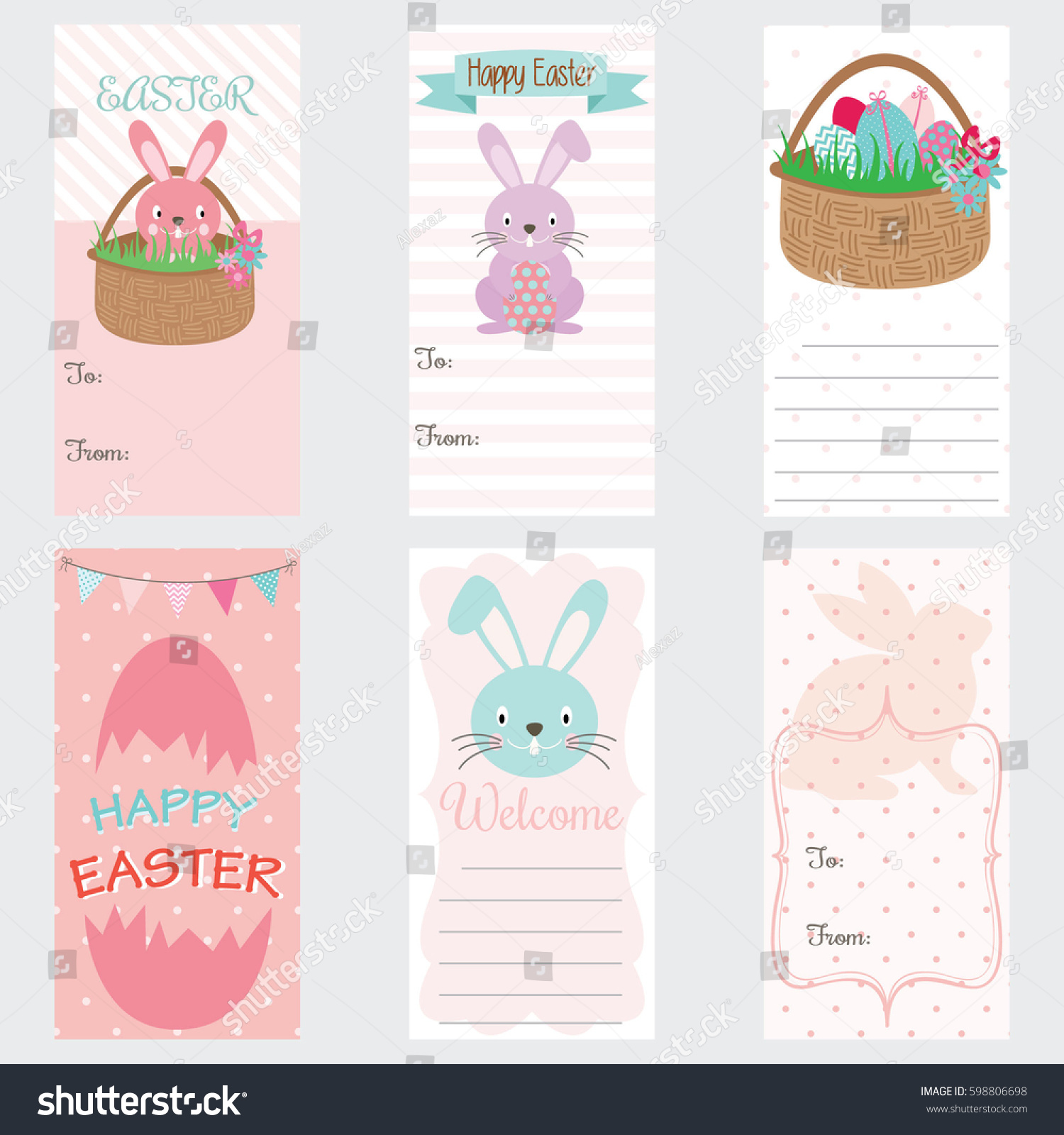 Happy easter invitation cardeaster gift tagseaster stock vector happy easter invitation cardeaster gift tagseaster bunny easter greetings negle Image collections