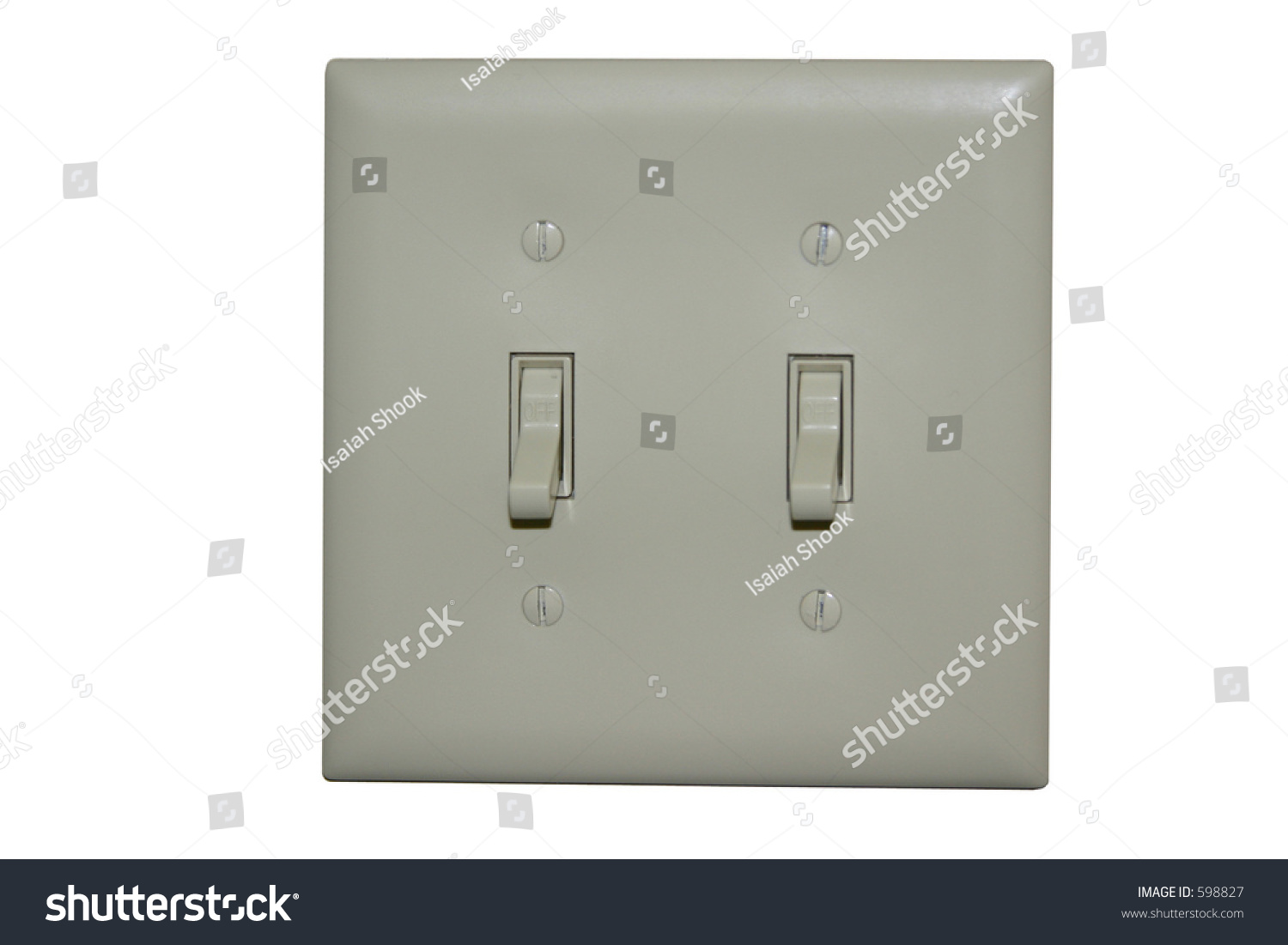 close up shot of two light switches both in the on position | EZ Canvas