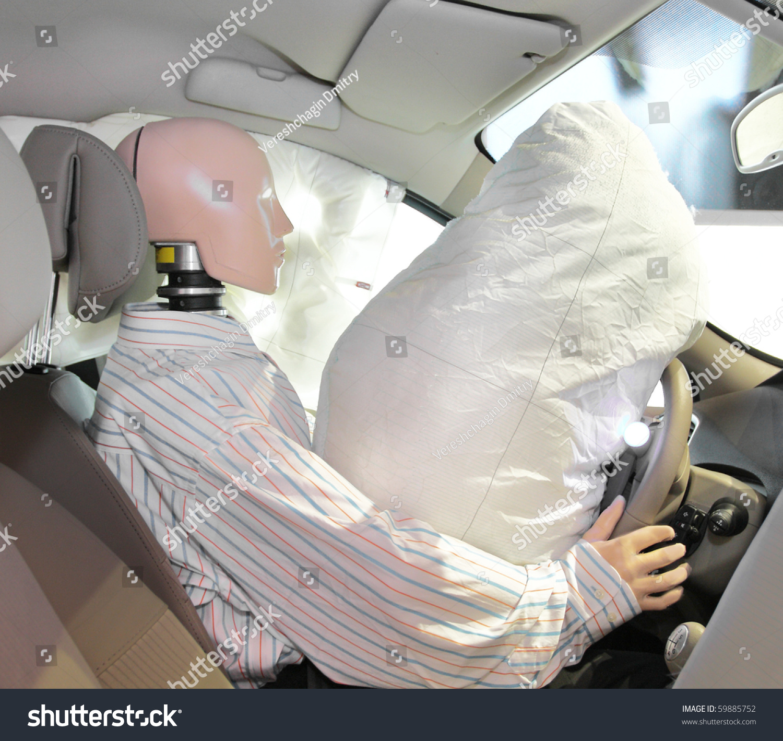 the image of mannequin in a car after crash test stock photo 59885752 shutterstock. Black Bedroom Furniture Sets. Home Design Ideas