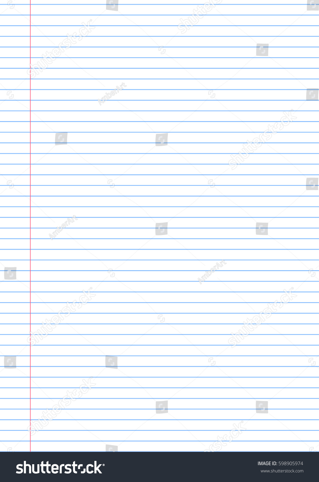 Vector Notebook Lined Paper Background Template Vector – Template for Notebook Paper