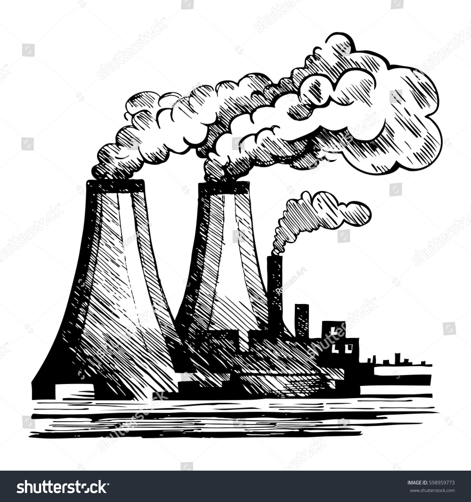 Drawing Of Air Pollution