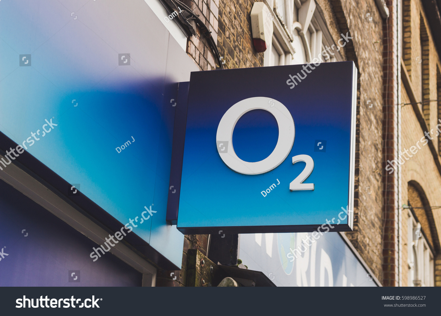 LONDON, ENGLAND - MARCH 1st, 2017: O2 business logo, sign, Harrow, London, UK.
