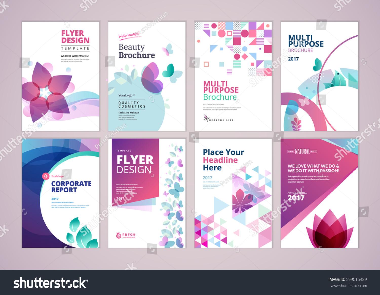 Beauty Wellness Brochure Cover Design Flyer Stock-Vektorgrafik ...