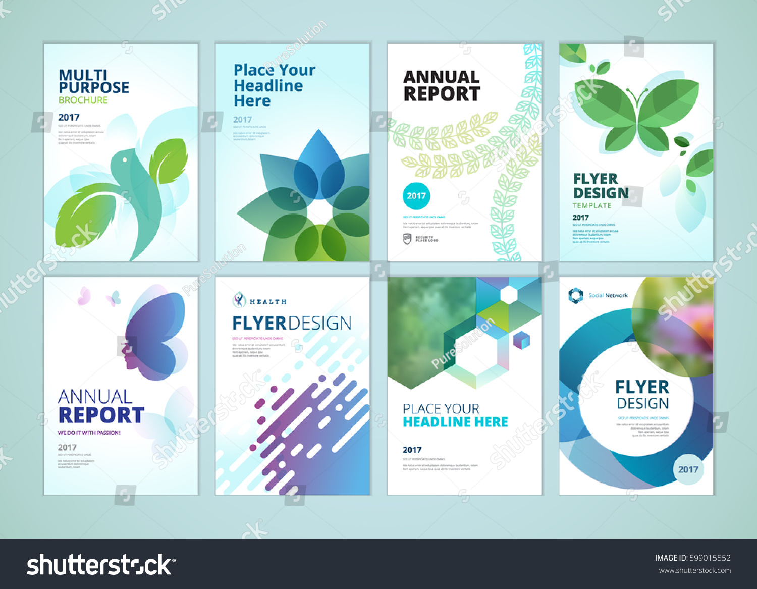 Beauty Natural Products Brochure Cover Design Vector