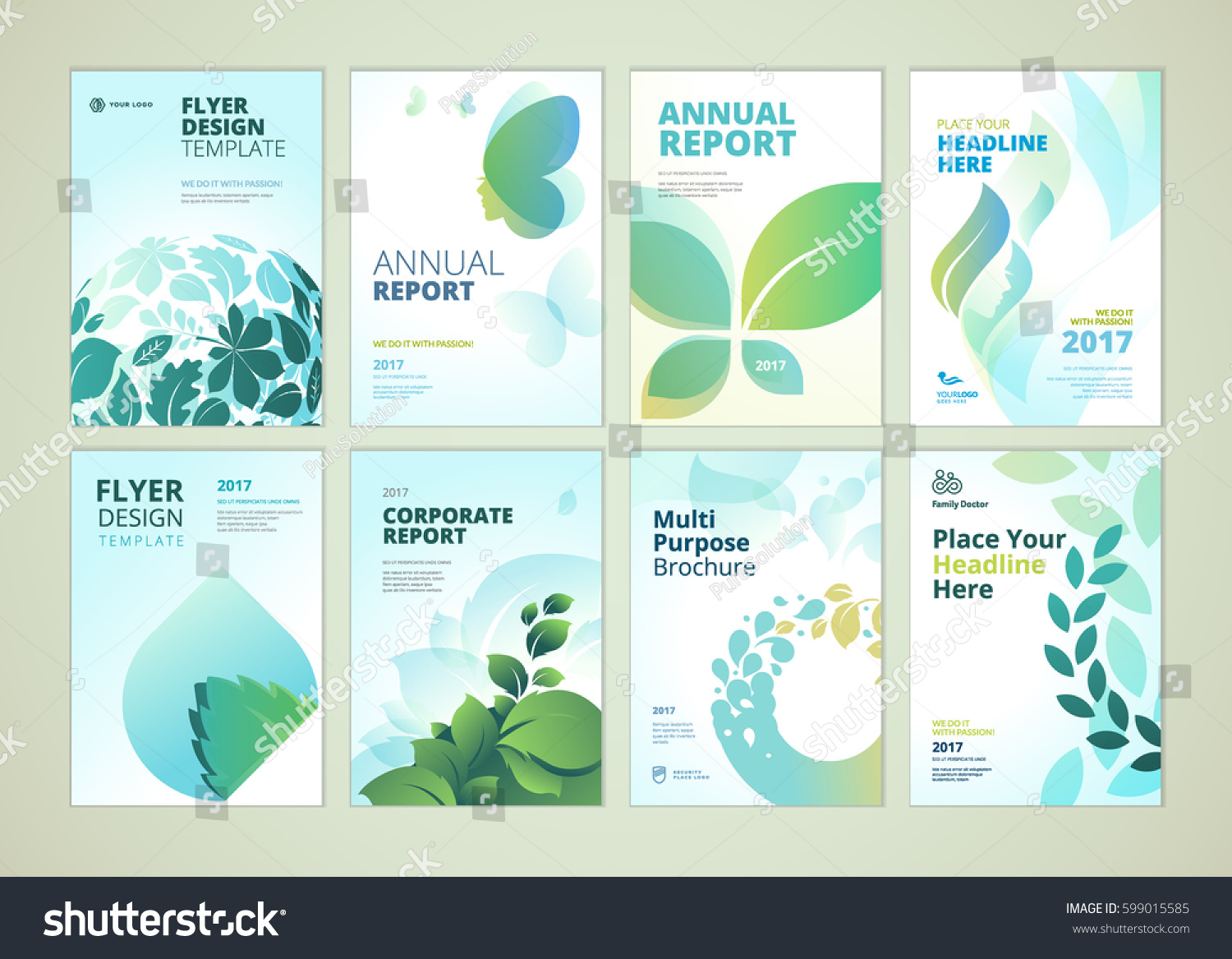 nature healthcare brochure cover design flyer stock vector royalty