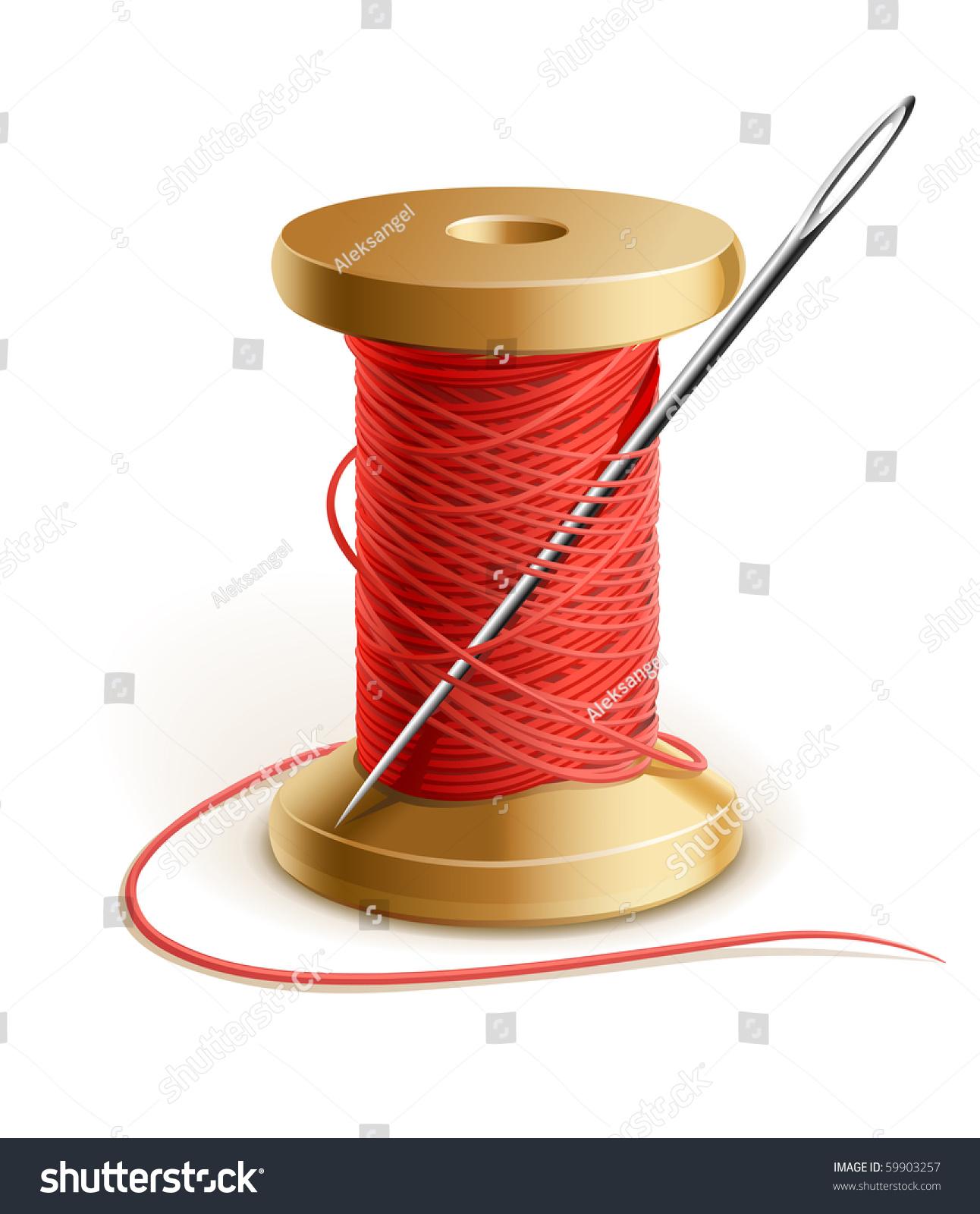 reel thread needle vector illustration isolated stock vector 59903257 shutterstock. Black Bedroom Furniture Sets. Home Design Ideas