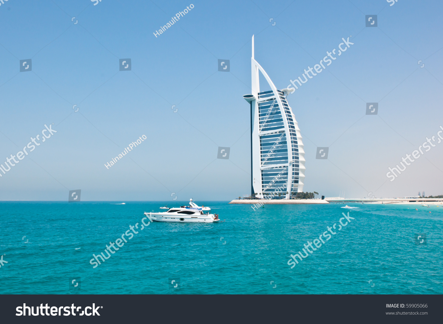 Dubai uae april 05 grand sail stock photo 59905066 for The sail hotel dubai