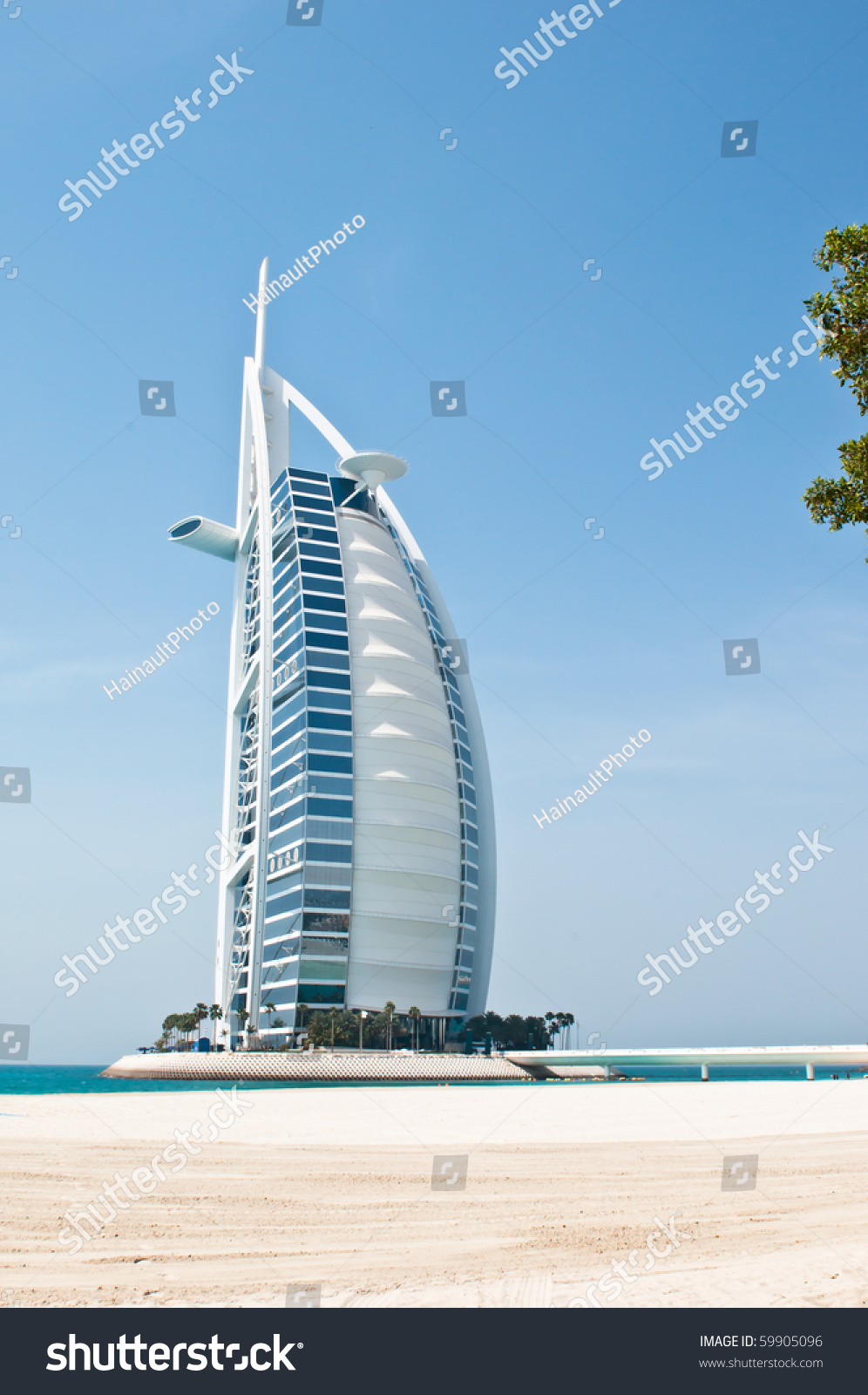 Dubai uae april 05 grand sail stock photo 59905096 for The sail hotel dubai