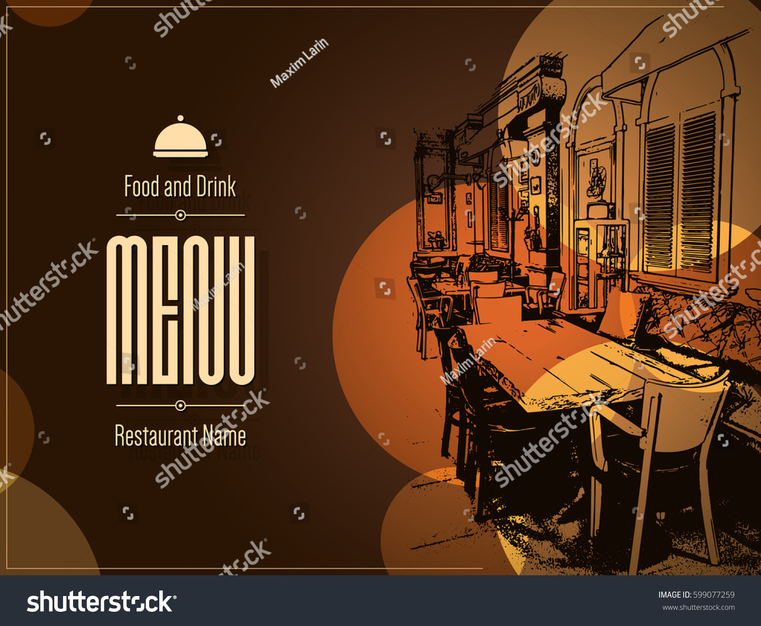 Restaurant menu design vector brochure stock