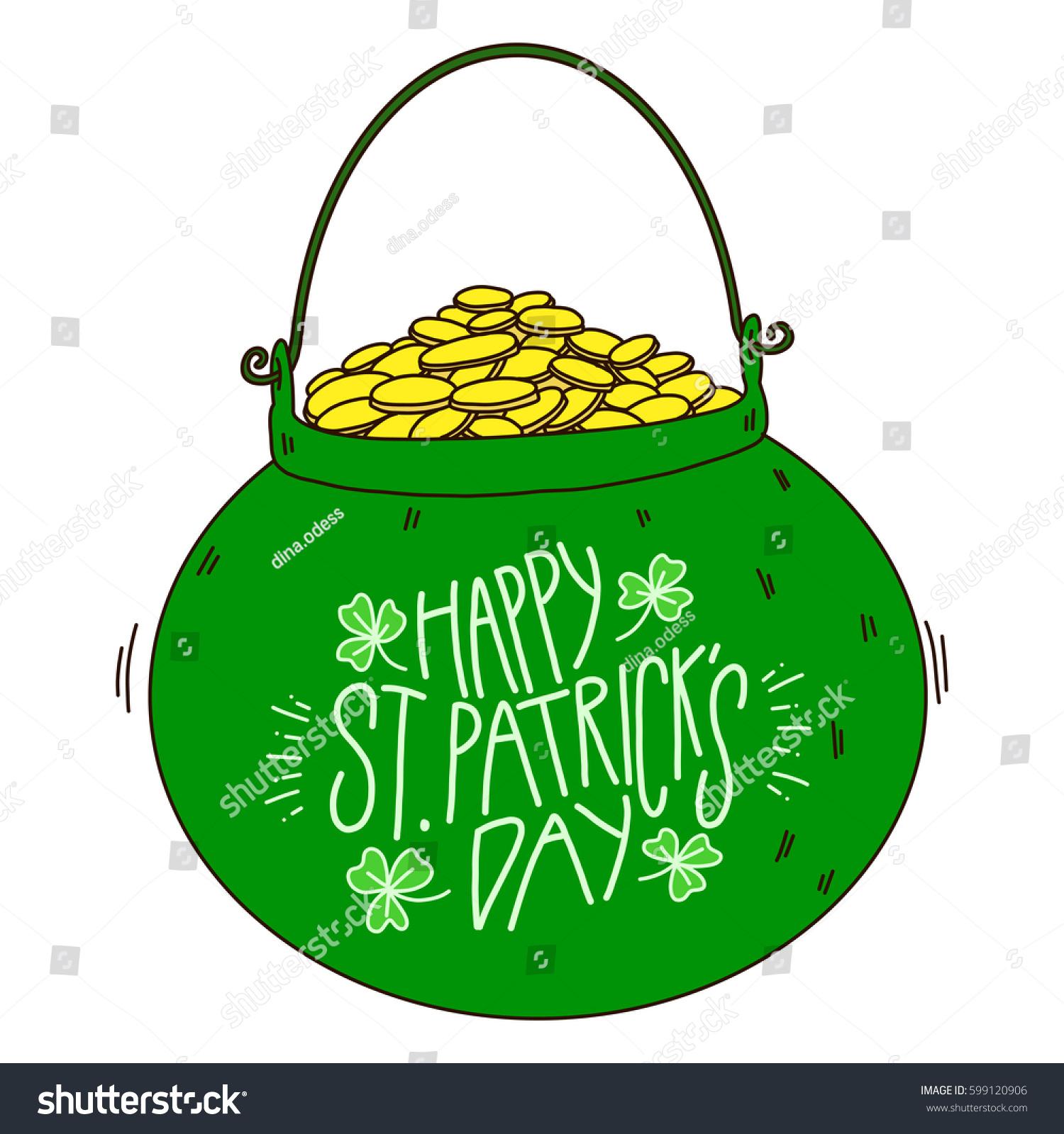 leprechaun pot gold stock vector royalty free 599120906 shutterstock