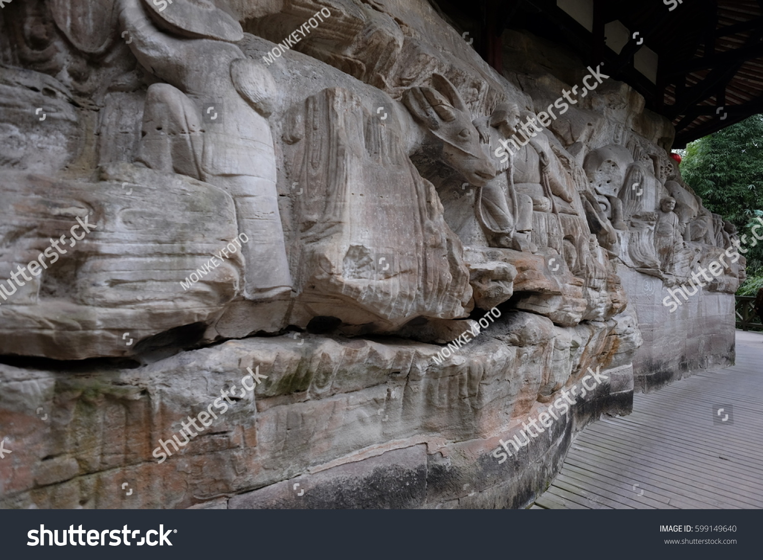 Dazu rock carvings china stock photo shutterstock
