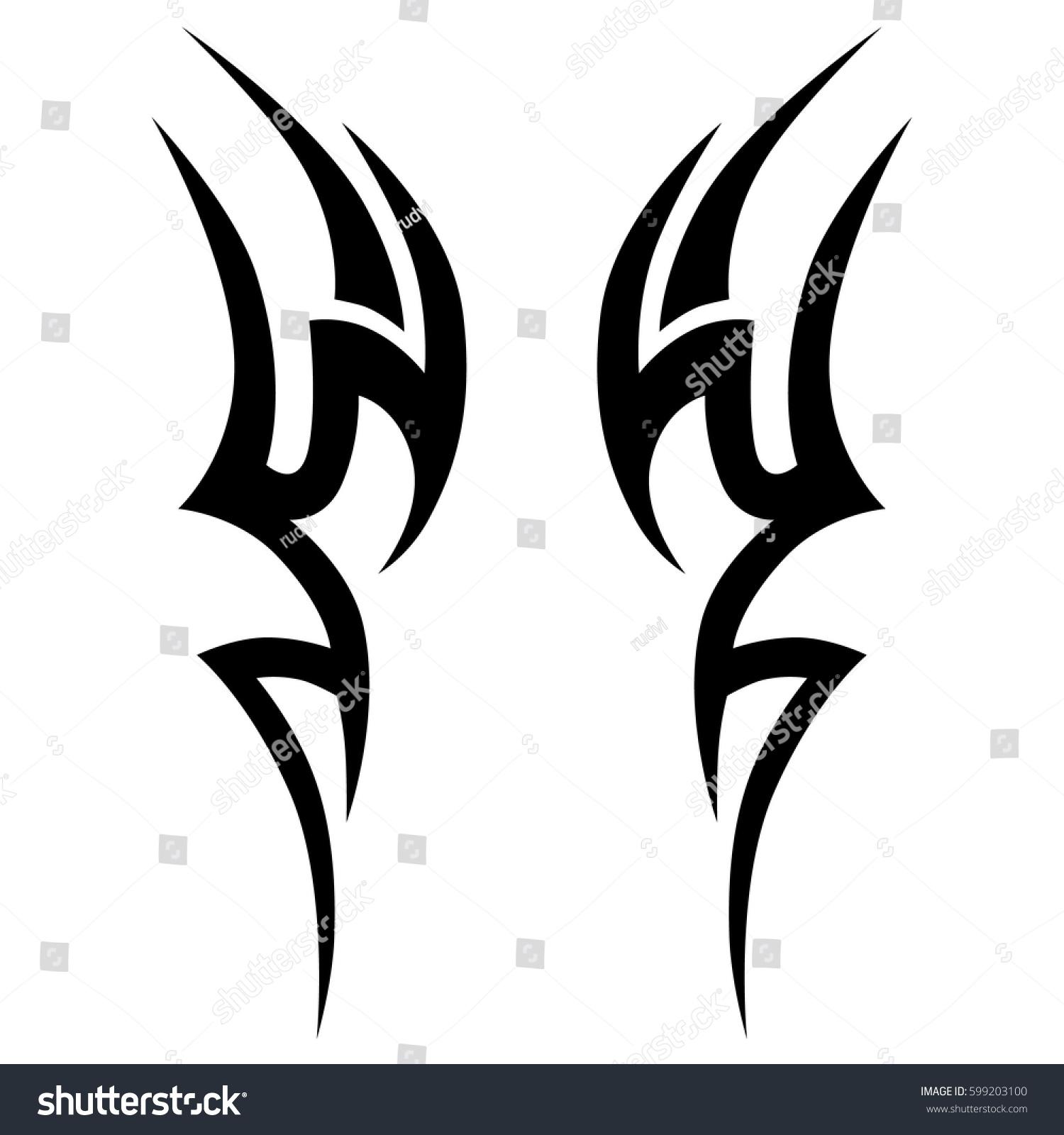 Tattoo Tribal Vector Designstribal Tattoos Tribal Stock