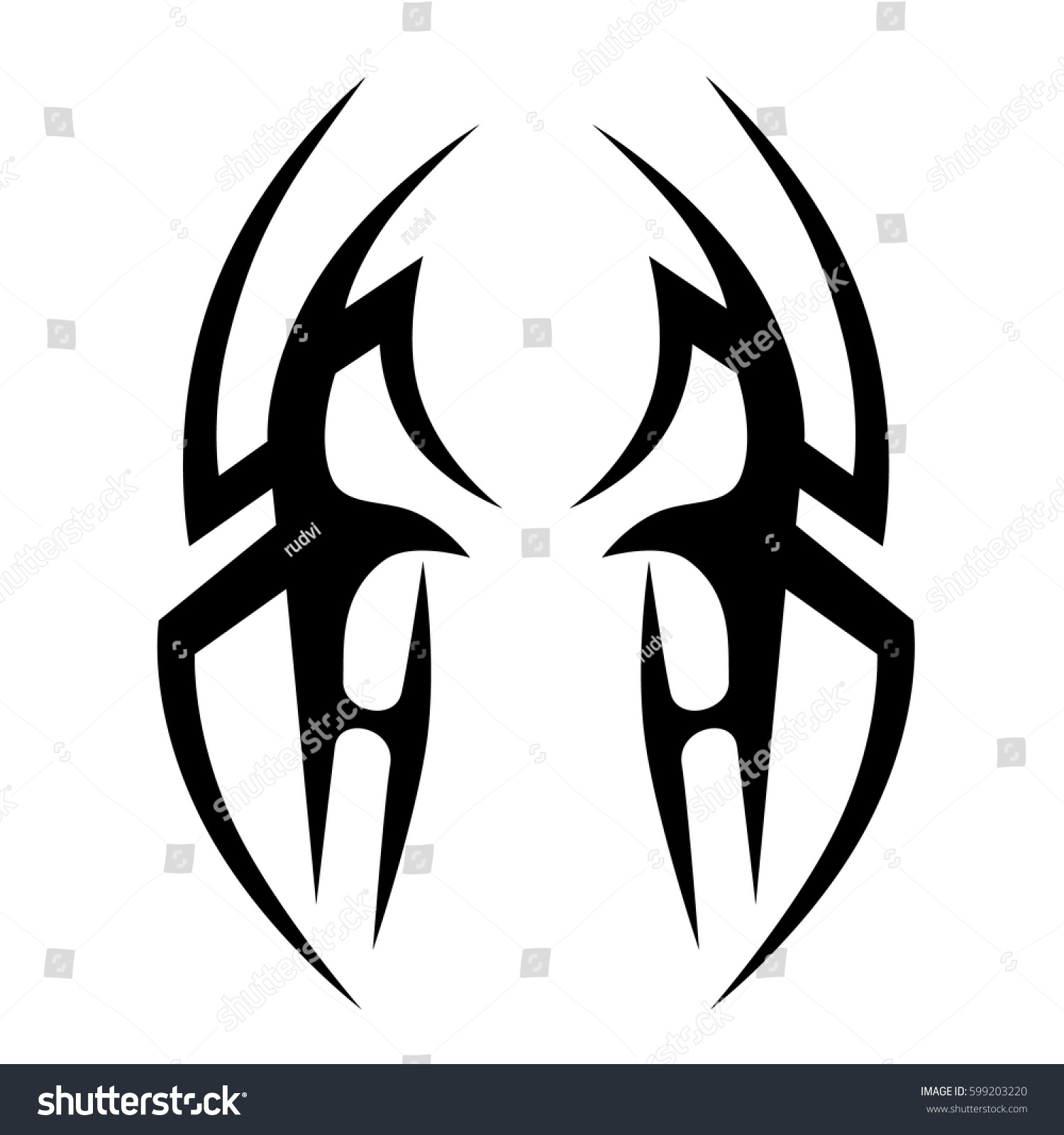Tribal-Tattoos stock-vector-vector-tribal-tattoo-designs-tribal-tattoos-art-tribal-tattoo-vector-sketch-of-a-tattoo-599203220