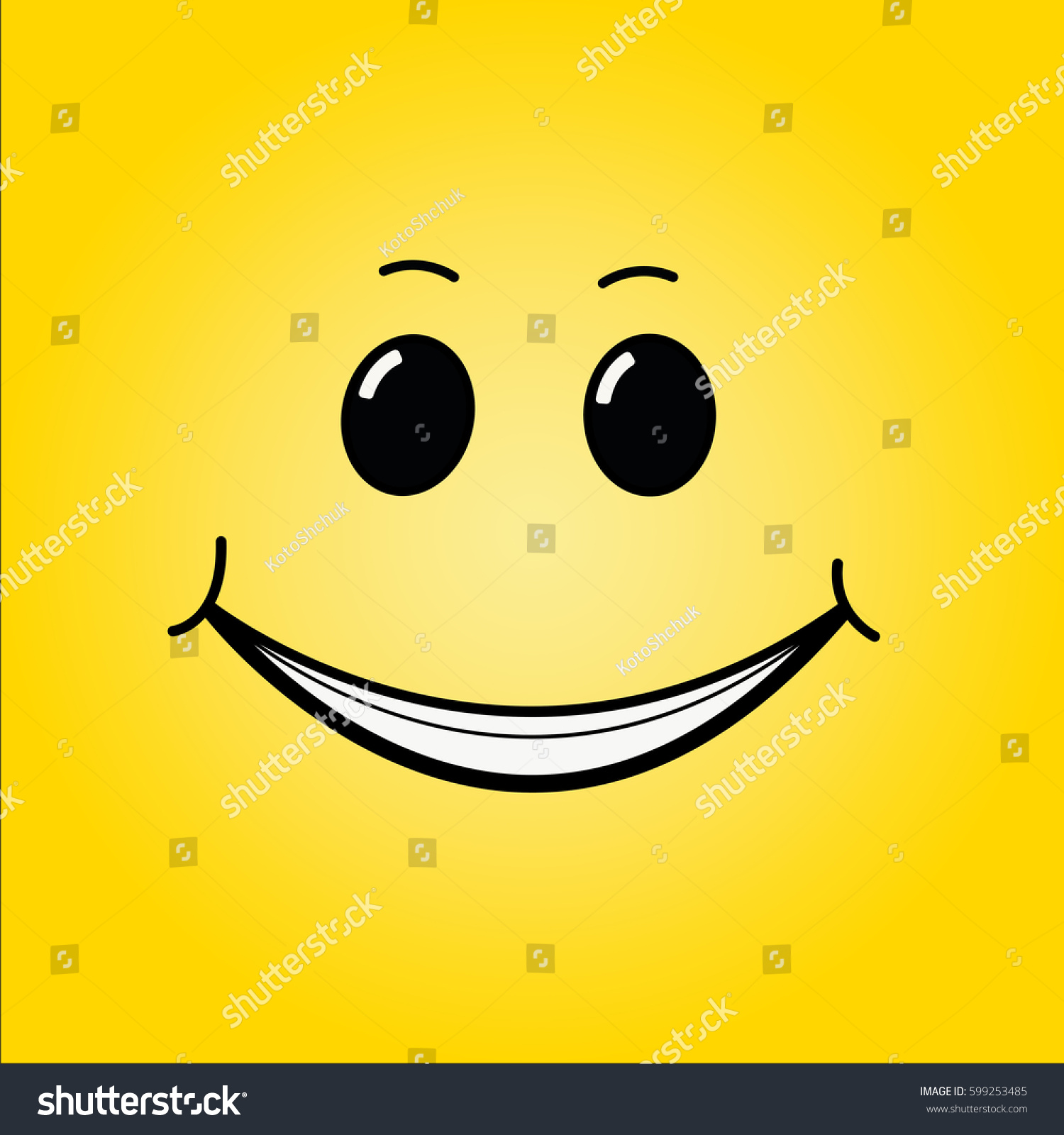 smile on yellow background happy mood stock vector   - smile on yellow background happy mood stock vector   shutterstock