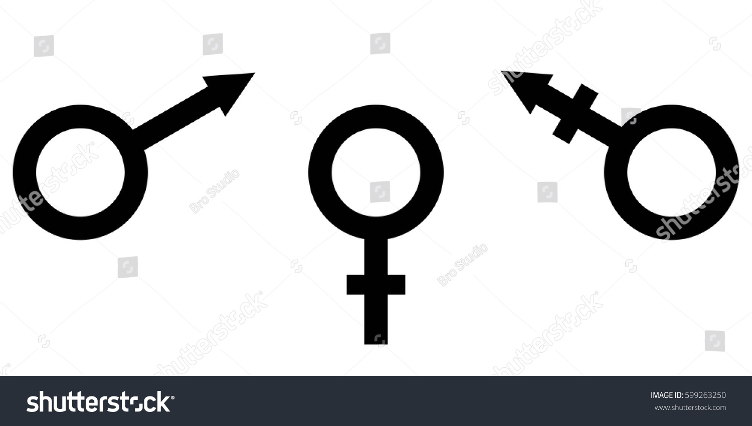 Sign Symbol Gender Equality Male Female Stock Vector Royalty Free