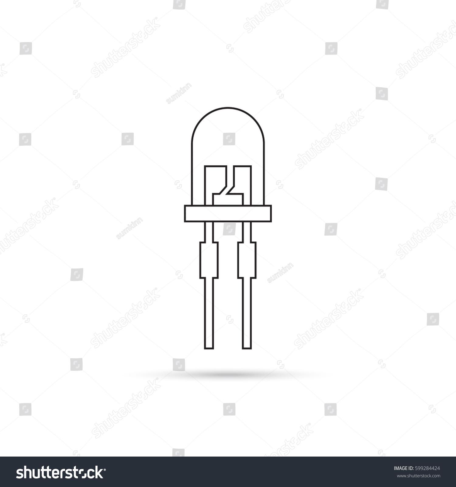 Vector Illustration Lightemitting Diode Led Energy Stock Light Emitting Diagram Of Saving Bulb The Trace Element