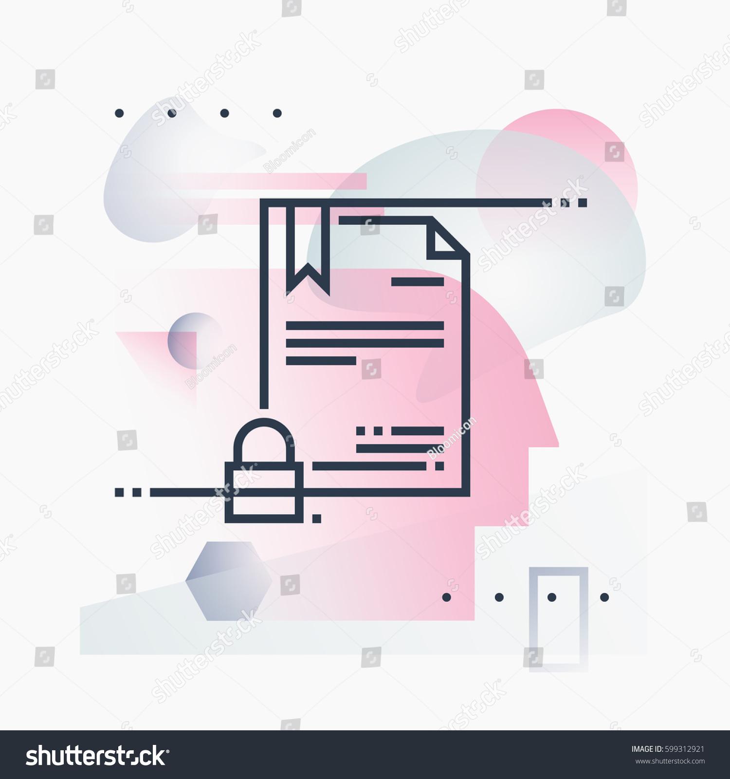Abstract illustration concept digital certificate security stock abstract illustration concept of digital certificate security online papers technology premium quality unique graphic xflitez Images