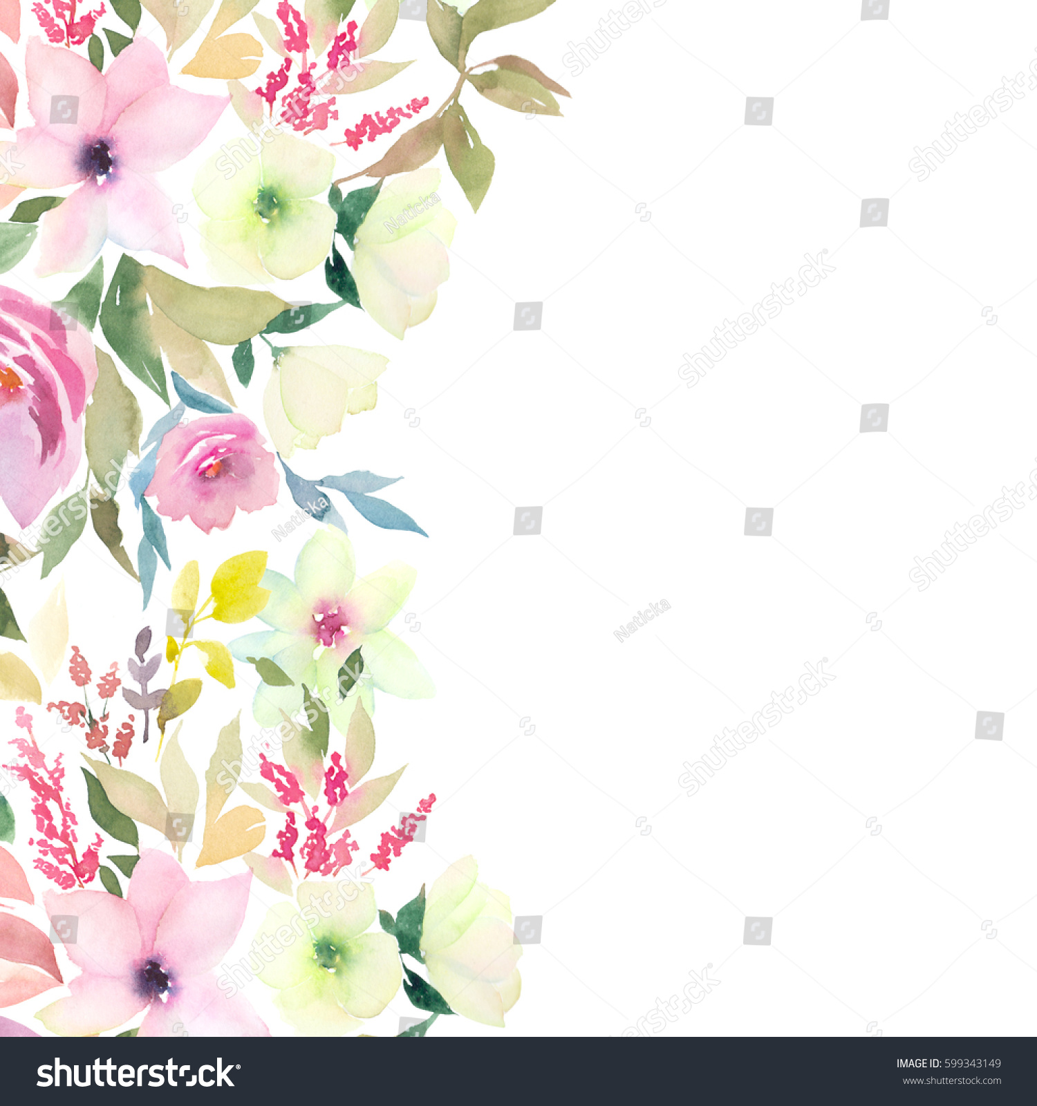 Watercolor template greeting wedding cards stock illustration watercolor template for greeting wedding cards kristyandbryce Choice Image