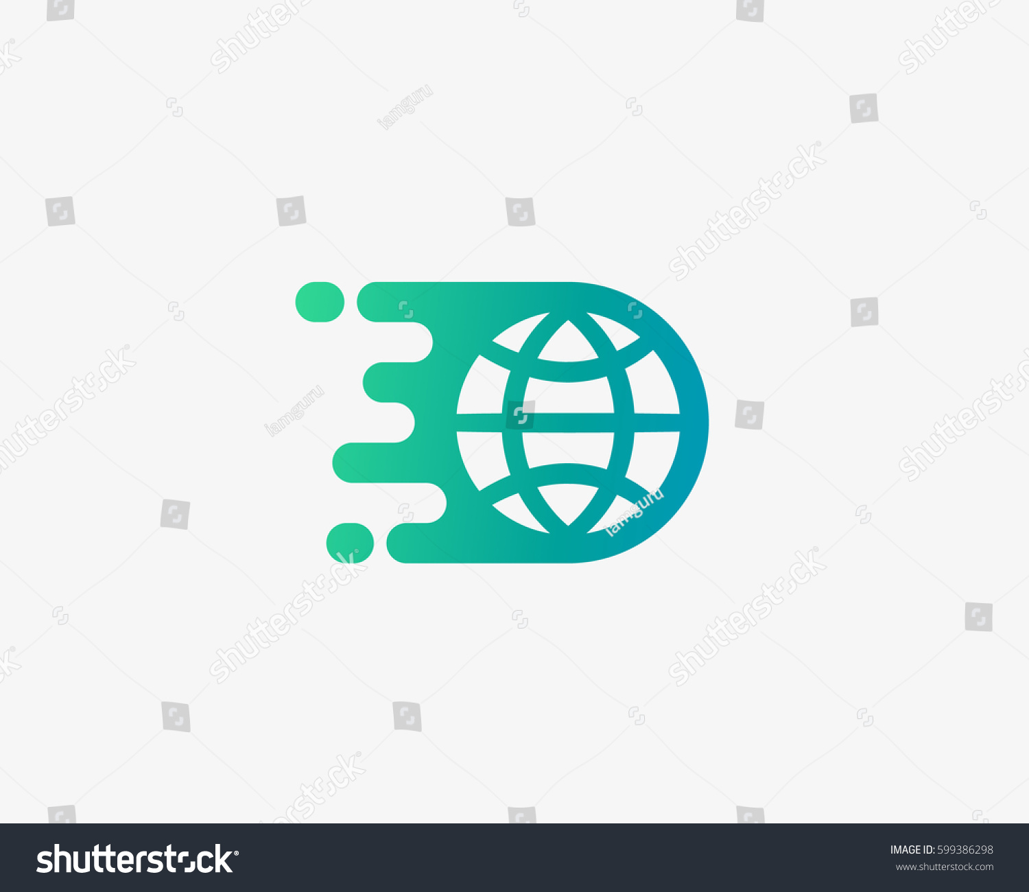 Planet Earth Vector Logo Design Globe Stock Vector (Royalty Free ...