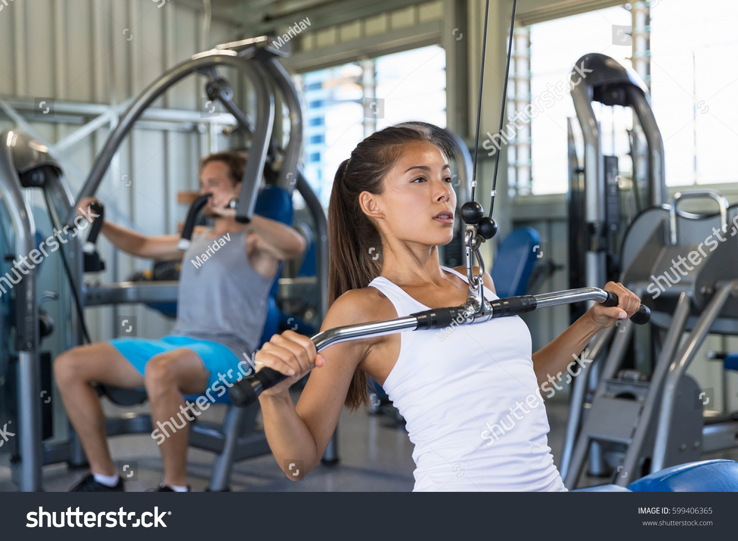 Fitness Asian Woman Working Out Shoulder Stock Photo -1469