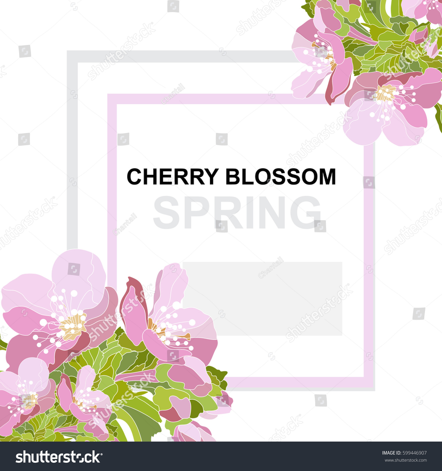 Elegant card decorative cherry blossom flowers stock for Classy mothers day cards