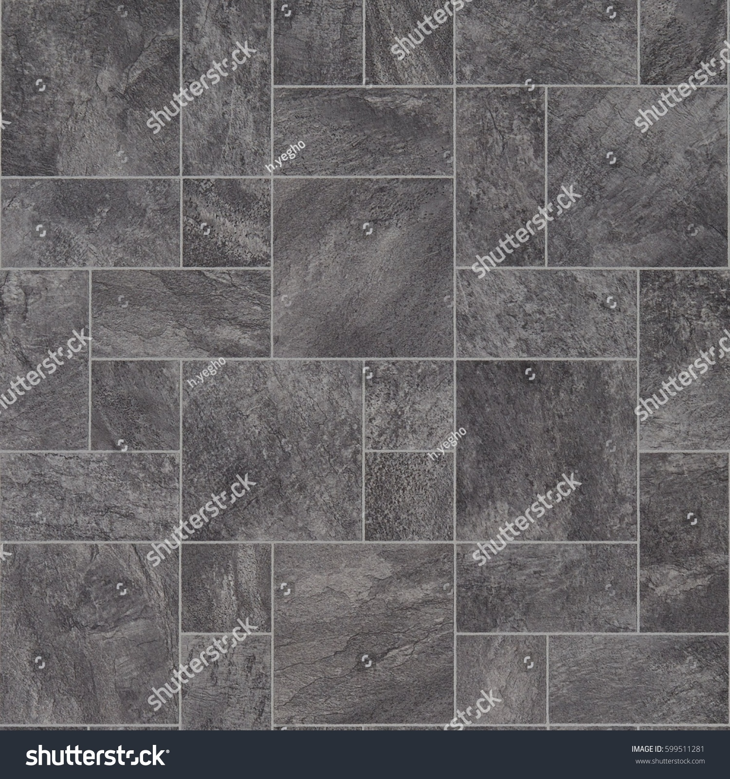 Grey Stone Tile Effect Vinyl Flooring Stock Photo Edit Now