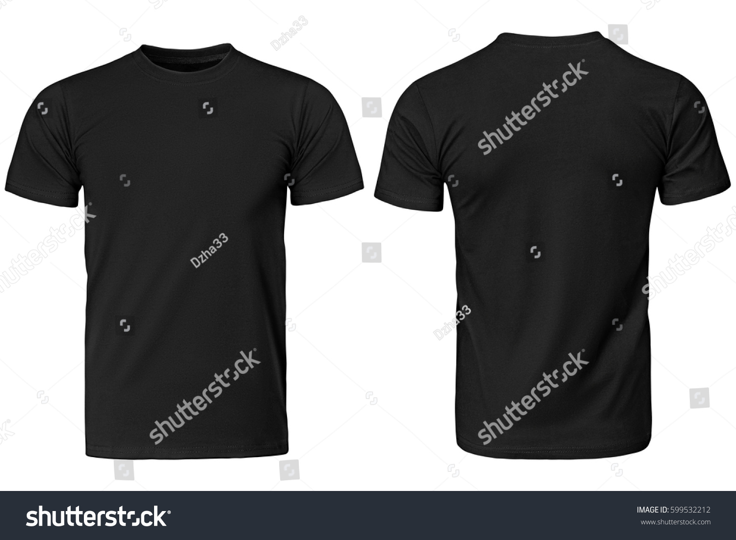 Black t-shirt, clothes on isolated white background #599532212 - 123PhotoFree.com