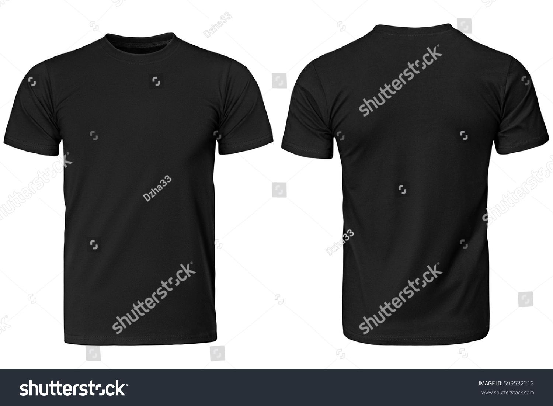 Black t shirt image - Black T Shirt Clothes On Isolated White Background