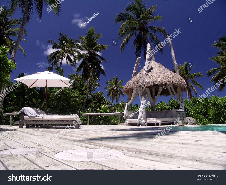 lodge on north island seychelles stock photo 5995519 shutterstock. Black Bedroom Furniture Sets. Home Design Ideas