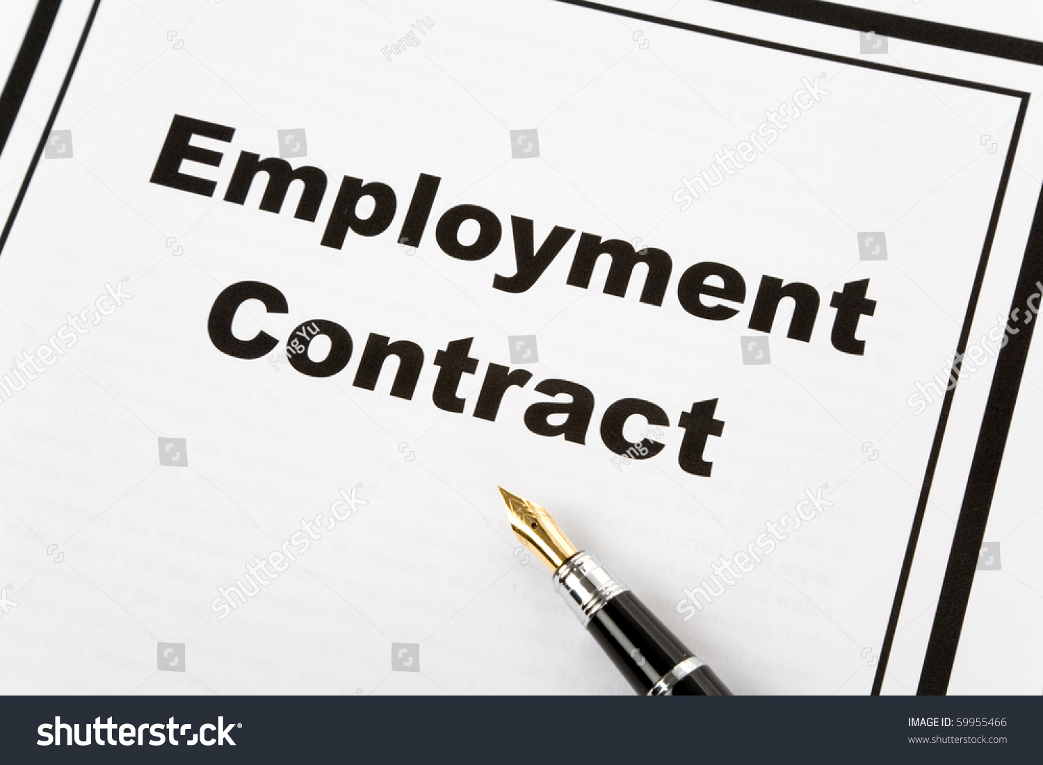 Employment Contract Pen Business Concept Photo 59955466 – Employment Contract