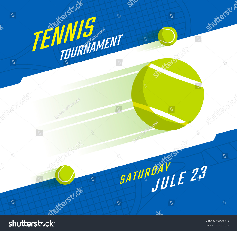 Poster design vector - Tennis Championship Or Tournament Poster Design Vector Illustration