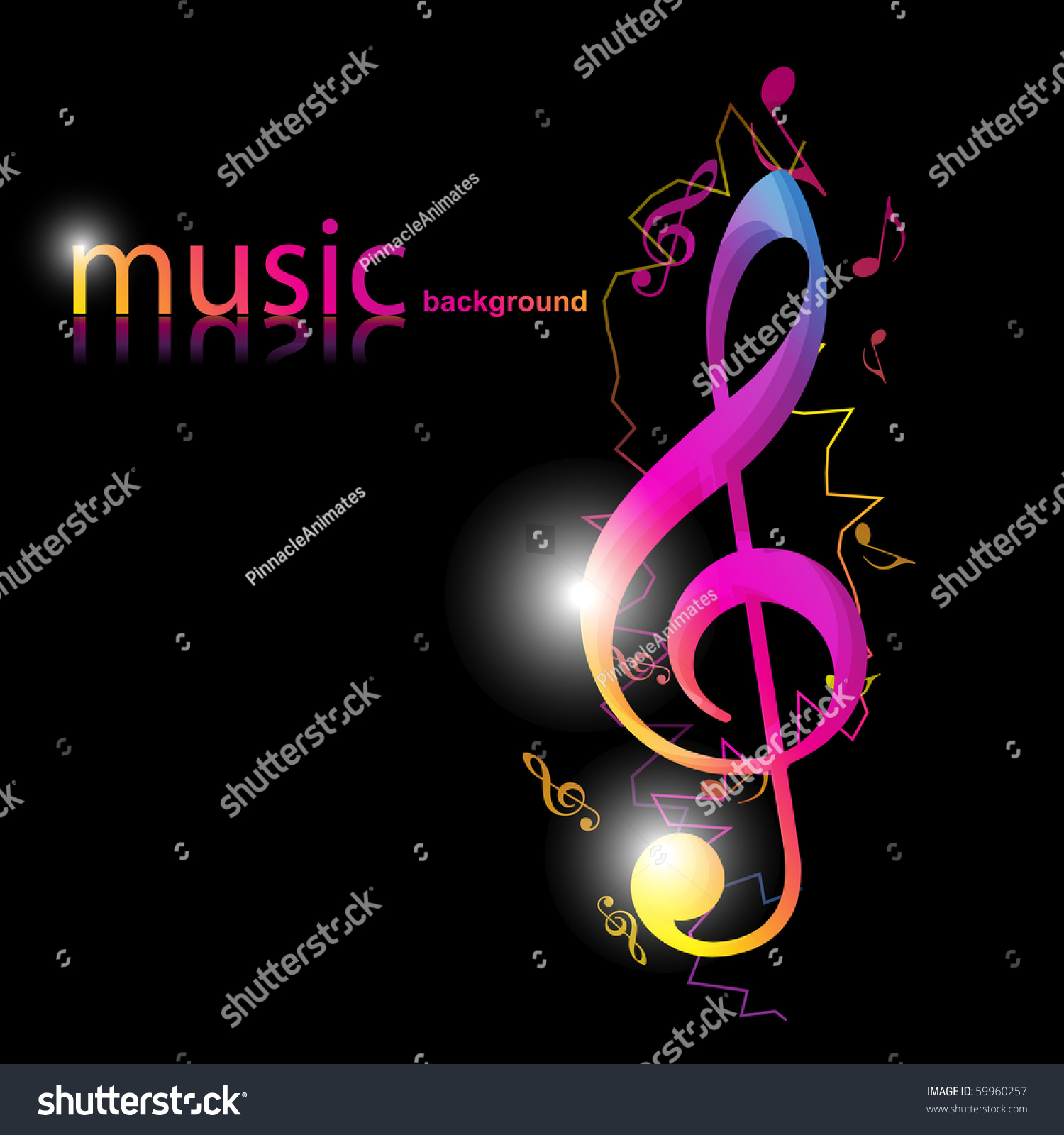 music theme eps10 stylish design on dark background stock